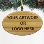 100% Custom Promotional Wood Ornament