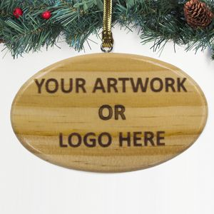 100% Custom Promotional Wood Ornament