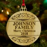 Personalize Wood Ornament