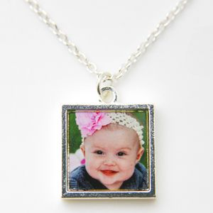 Silver Plated Photo Necklace