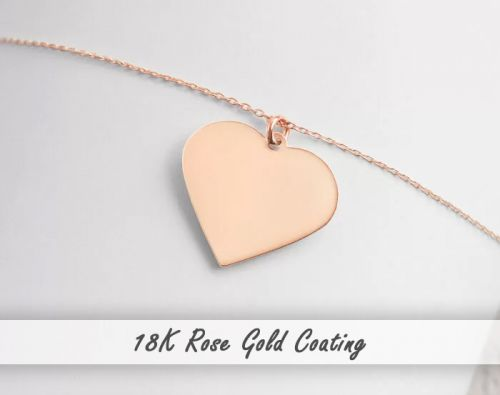 Engraved Heart Chain Necklace