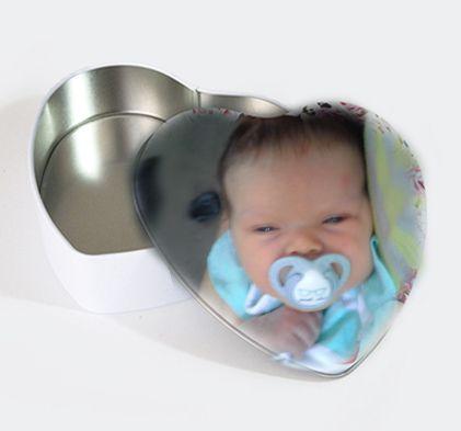 Heart-Shaped Tin Box