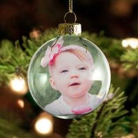 Photo Glass Ball Ornament