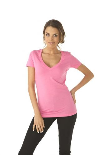 Ladies CVC Deep V Tee